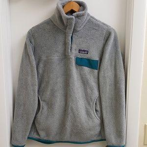 😍Patagonia retool snap T fleece pullover size M